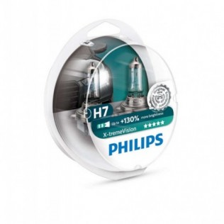 H7 (55) PX26d+130% (2шт) 12V PHILIPS
