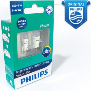 Ultinon LED-HL White T10 6000К 12V W5W X2  Philips